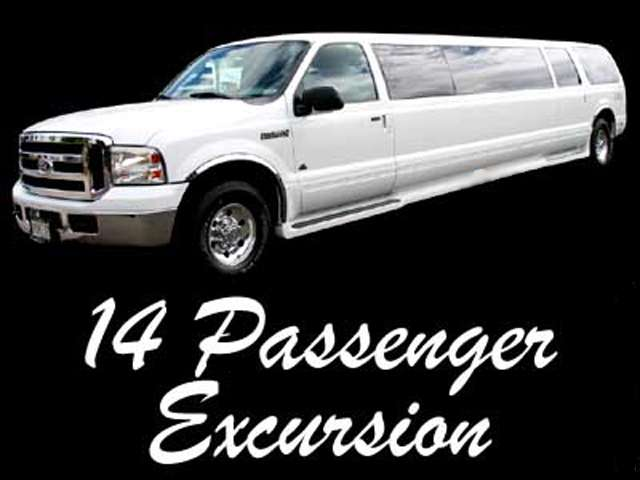 14 passenger ford excursion suv limo